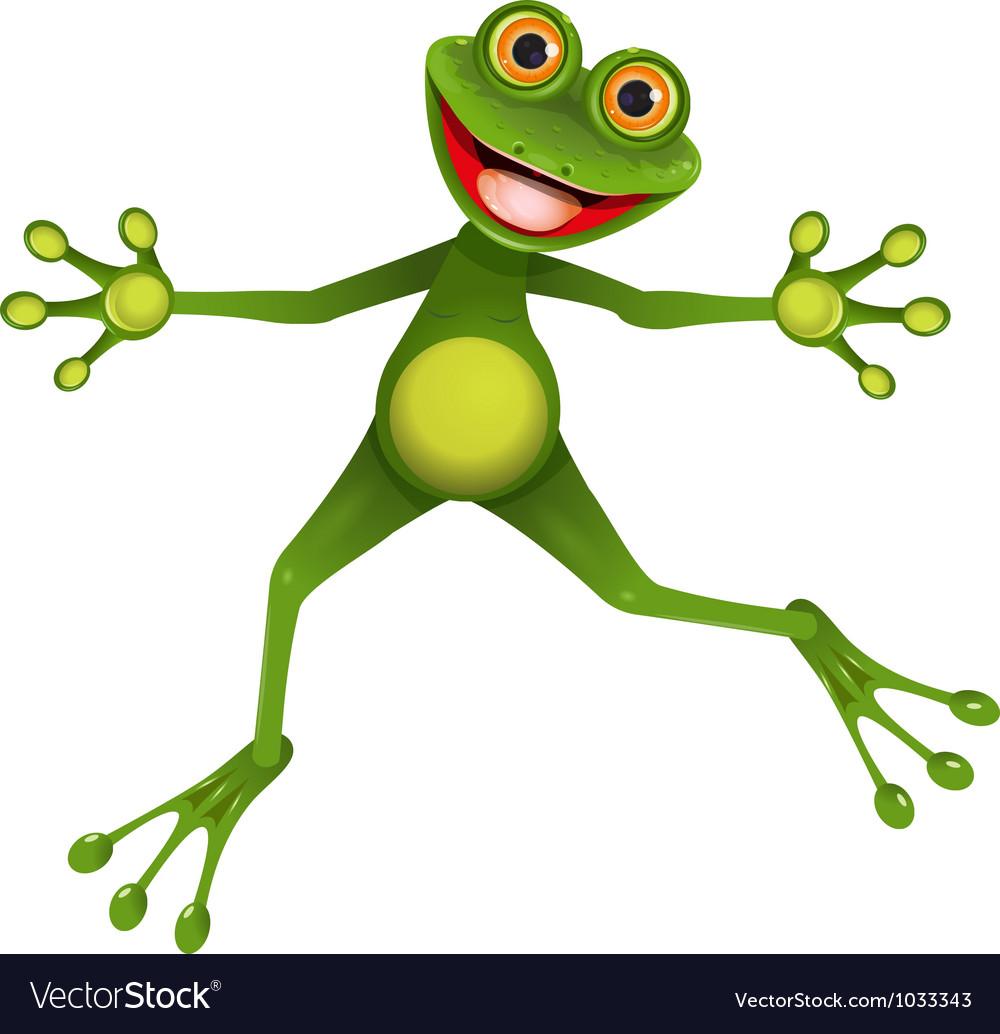 Happy green frog vector | Price: 3 Credit (USD $3)