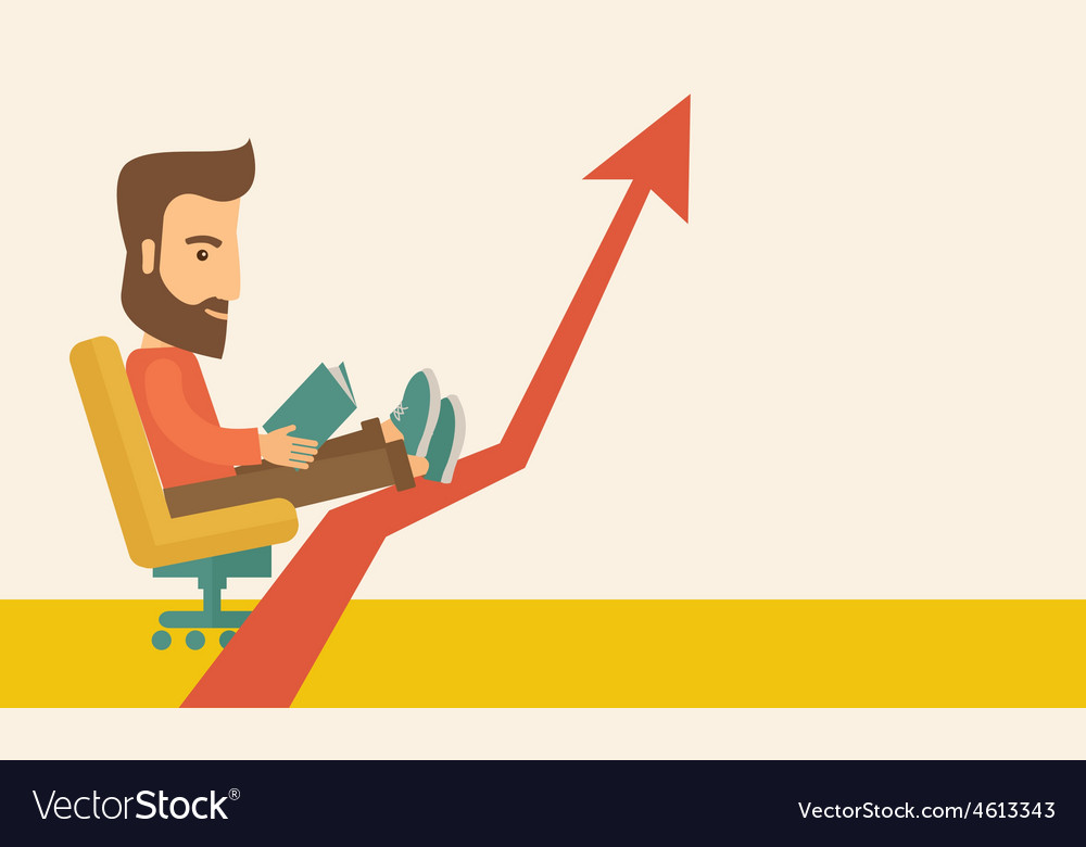 Man relaxing in growing business vector | Price: 1 Credit (USD $1)