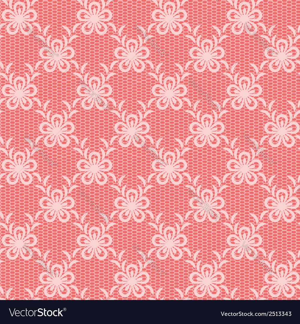 Pink floral lacy background vector | Price: 1 Credit (USD $1)