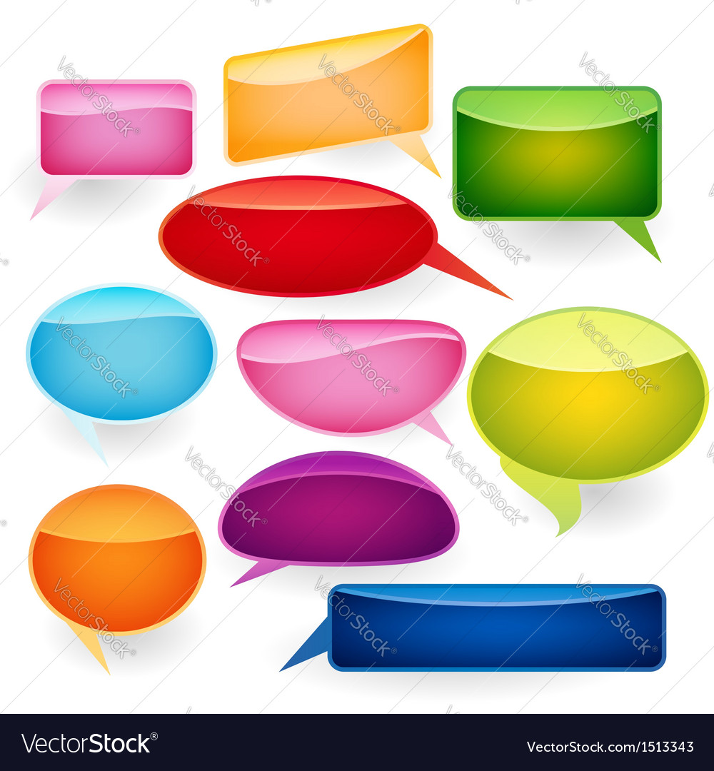 Speech bubbles of traditional and original forms vector | Price: 1 Credit (USD $1)
