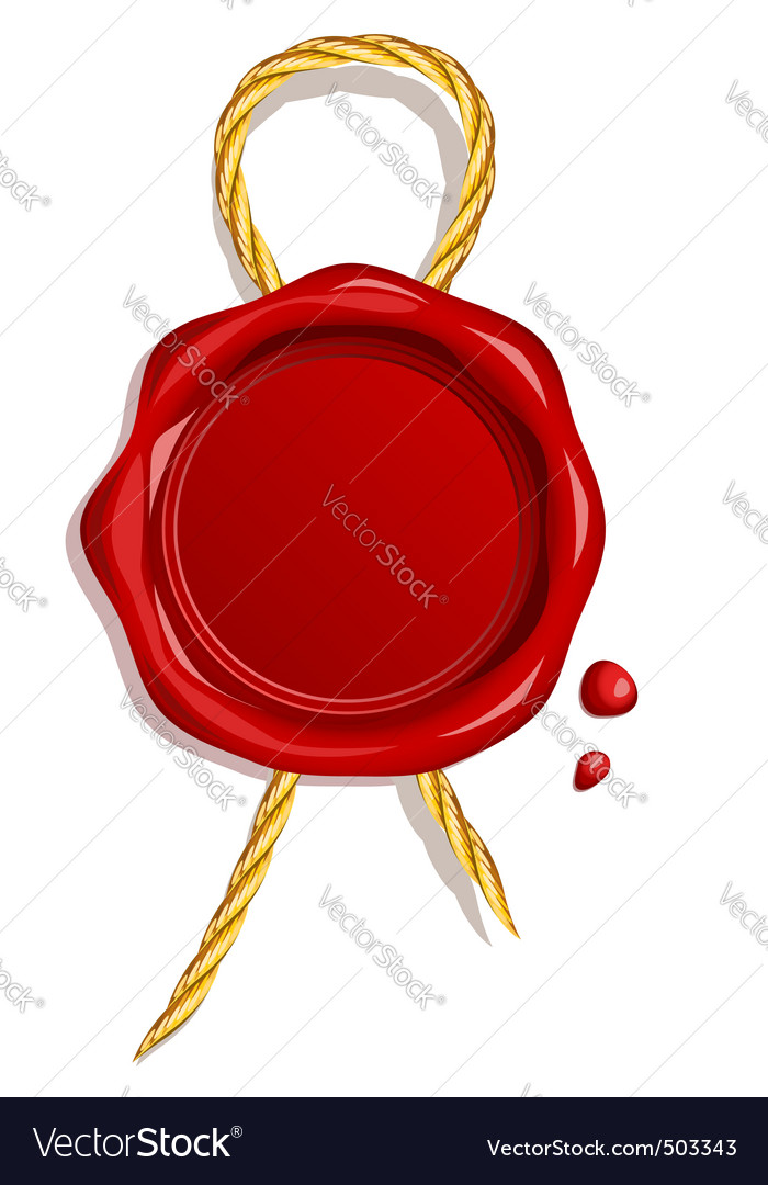 Wax seal vector | Price: 1 Credit (USD $1)