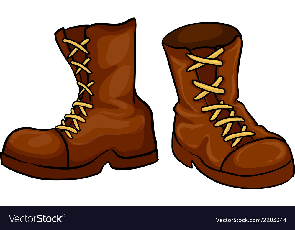 A pair of brown boots vector | Price: 1 Credit (USD $1)
