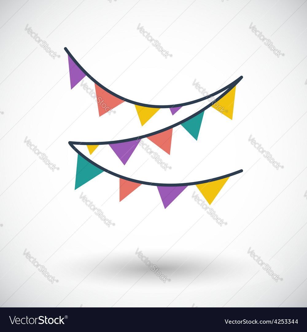 Bunting icon vector | Price: 1 Credit (USD $1)