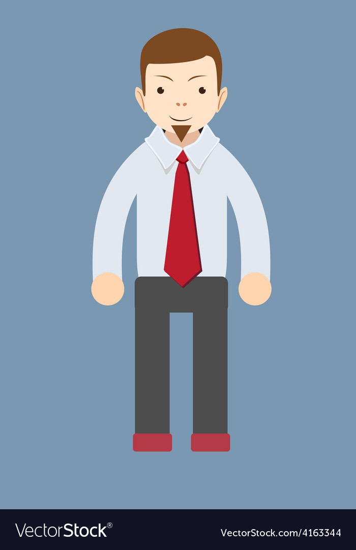 Cartoon smiling businessman vector | Price: 1 Credit (USD $1)