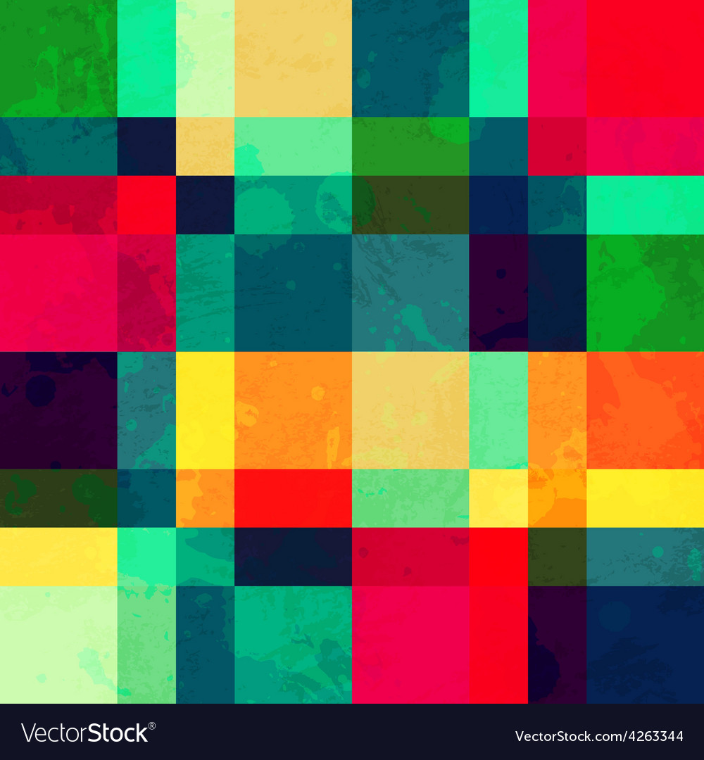 Colorful square seamless pattern with blob effect vector | Price: 1 Credit (USD $1)