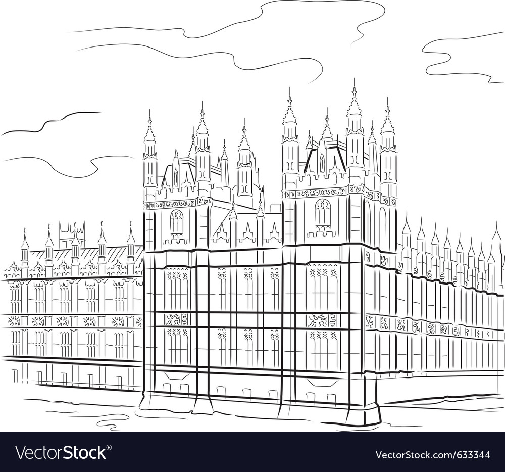 Drawing tower in london uk vector | Price: 1 Credit (USD $1)