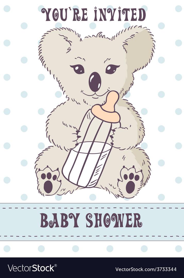 Koala with bottle of milk vector | Price: 1 Credit (USD $1)