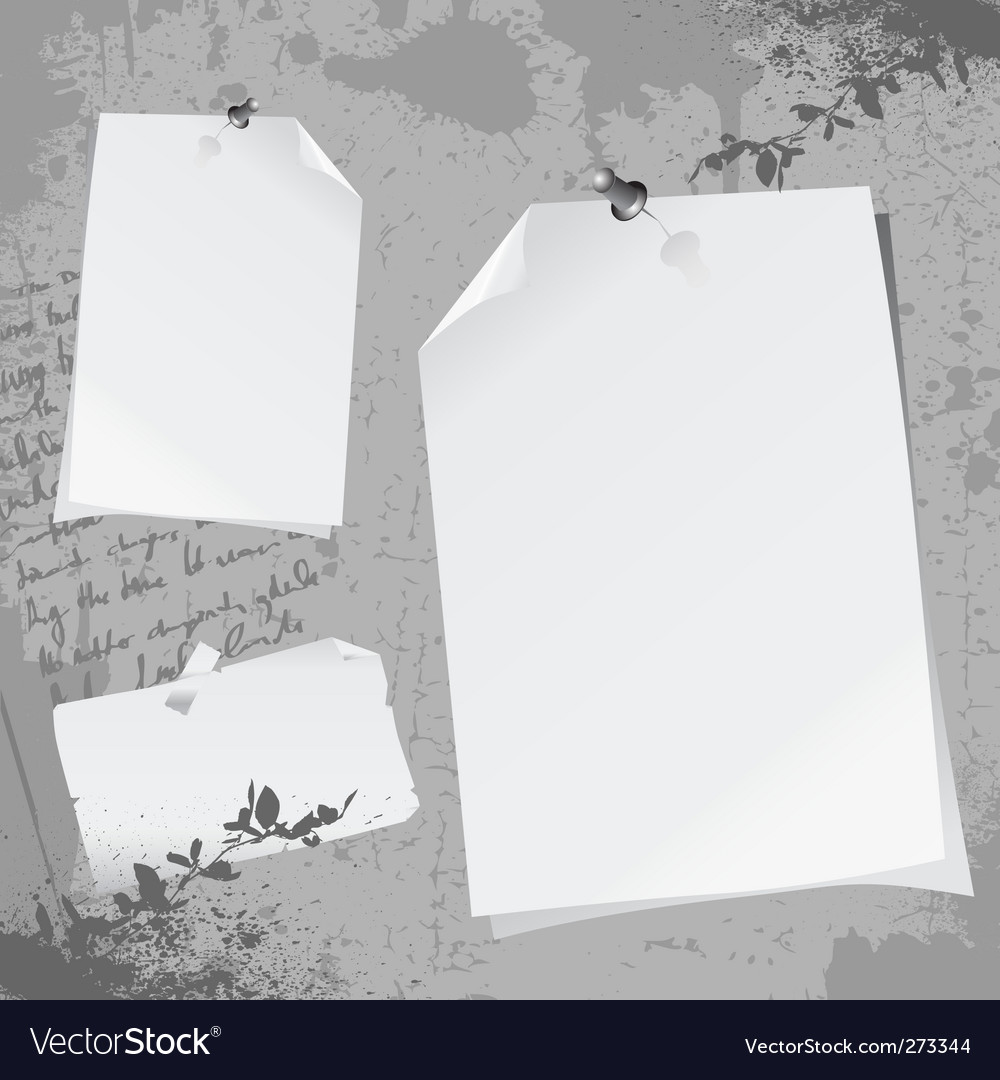 Notepaper illustration vector | Price: 1 Credit (USD $1)