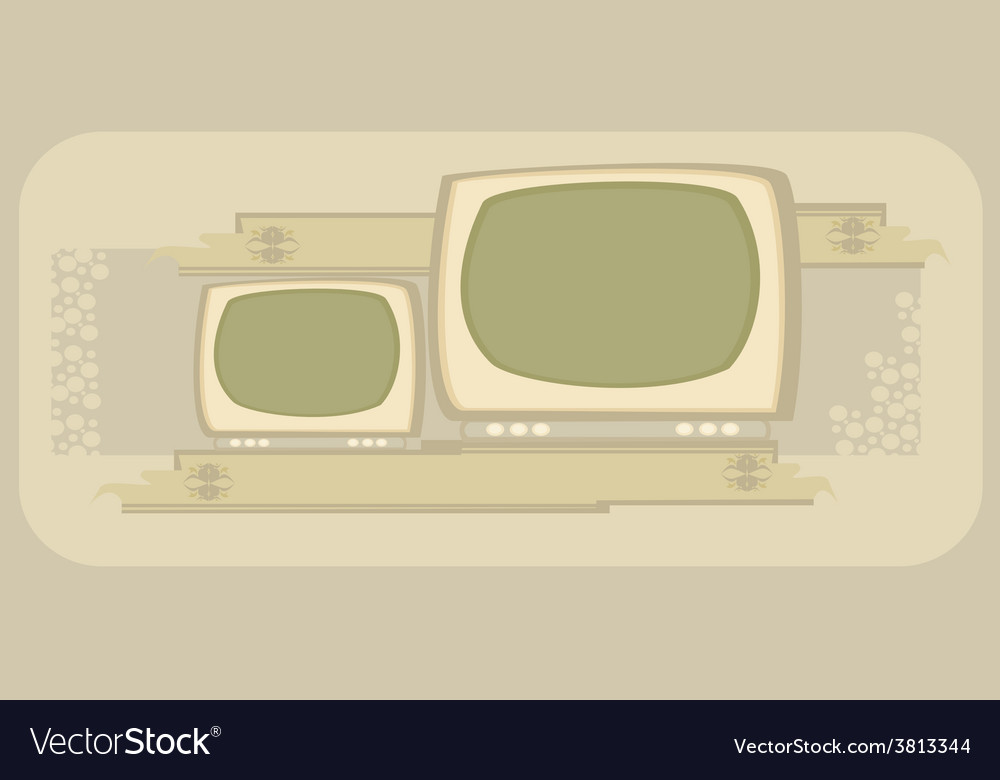Retro tv frame vector | Price: 1 Credit (USD $1)