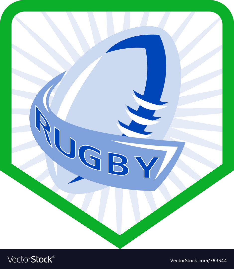 Rugby shield icon vector | Price: 1 Credit (USD $1)