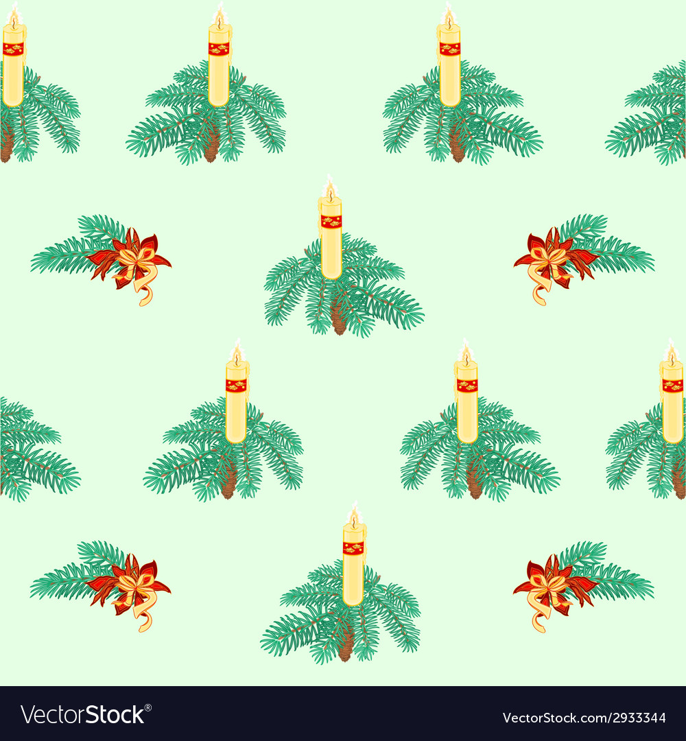 Seamless texture christmas candle vector | Price: 1 Credit (USD $1)