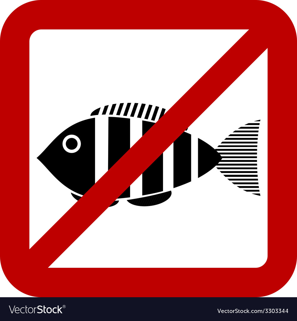 Sign of prohibited fishing vector | Price: 1 Credit (USD $1)