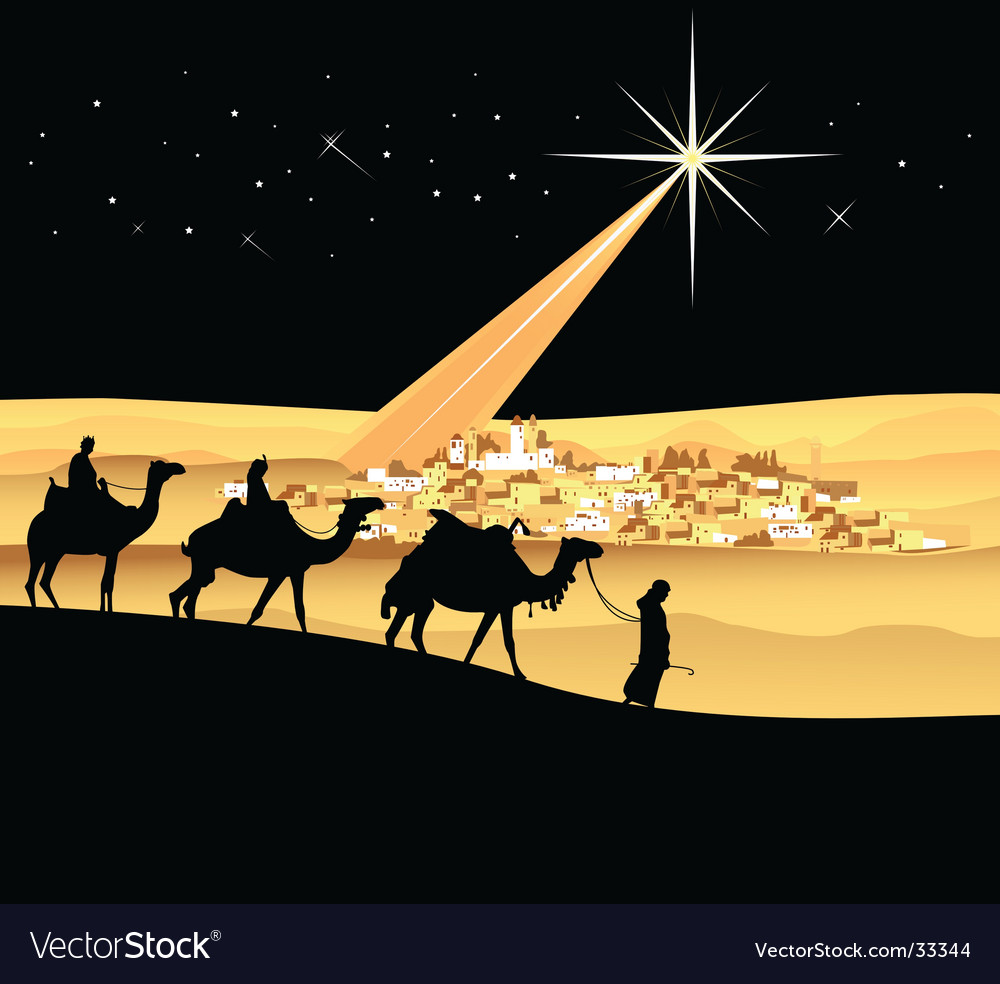 The three wise men vector | Price: 3 Credit (USD $3)
