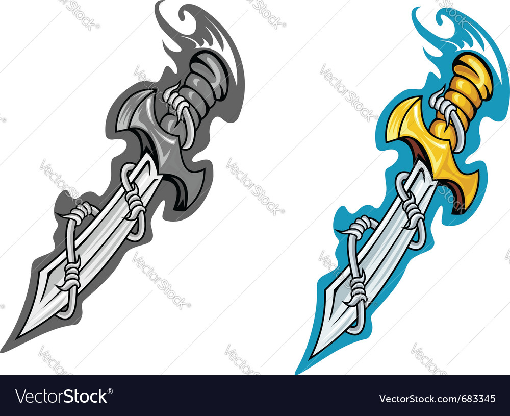 Ancient dagger tattoo vector | Price: 1 Credit (USD $1)