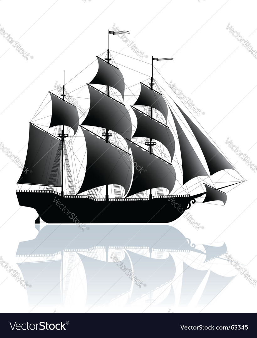 Black ship vector | Price: 1 Credit (USD $1)