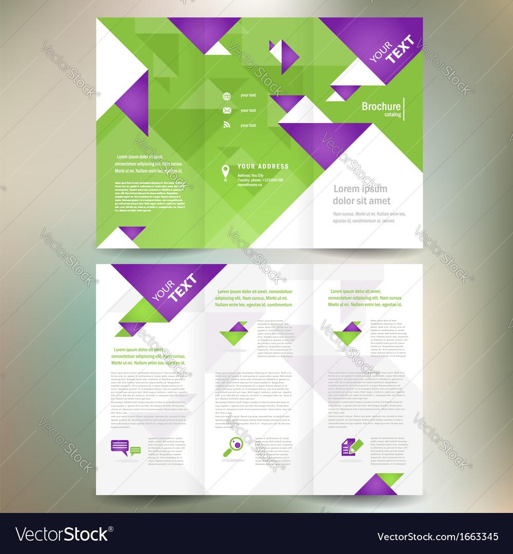 Brochure folder leaflet geometric triangle origami vector | Price: 1 Credit (USD $1)