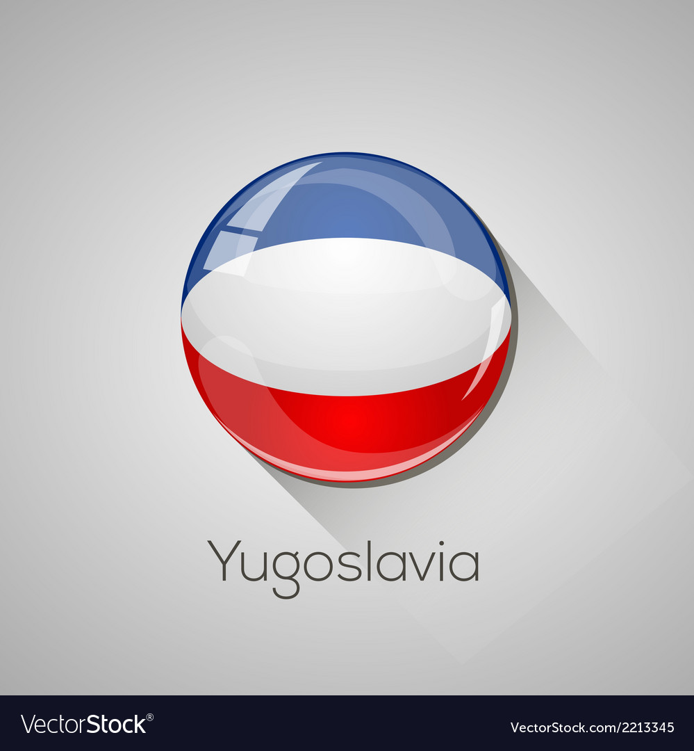 European flags set - yugoslavia vector | Price: 1 Credit (USD $1)
