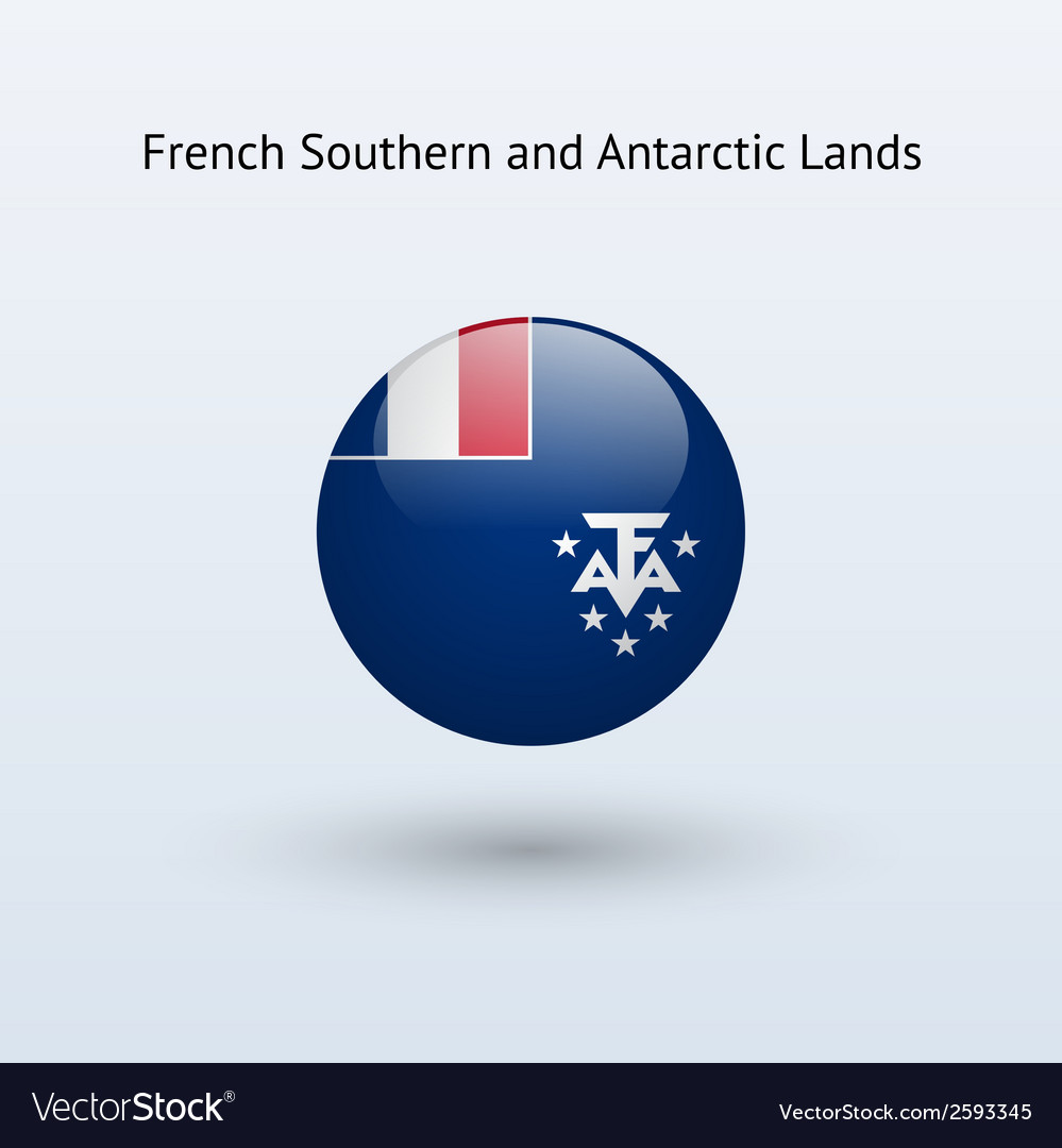 French southern and antarctic lands round flag vector | Price: 1 Credit (USD $1)