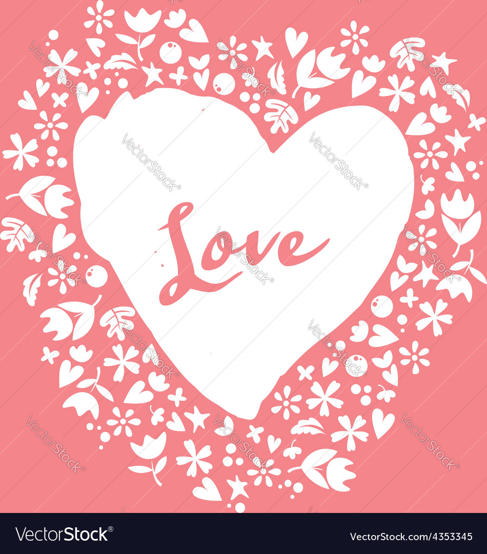 Lovely card heart vector | Price: 1 Credit (USD $1)
