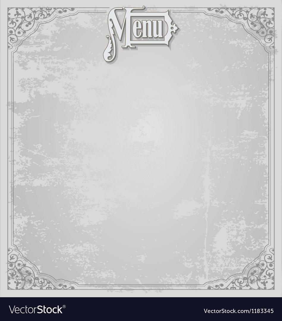 Menu design template vector | Price: 1 Credit (USD $1)