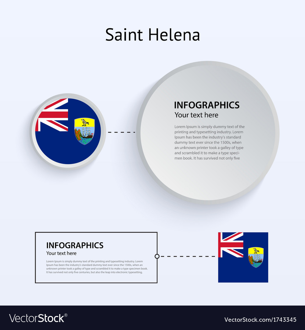Saint helena country set of banners vector | Price: 1 Credit (USD $1)