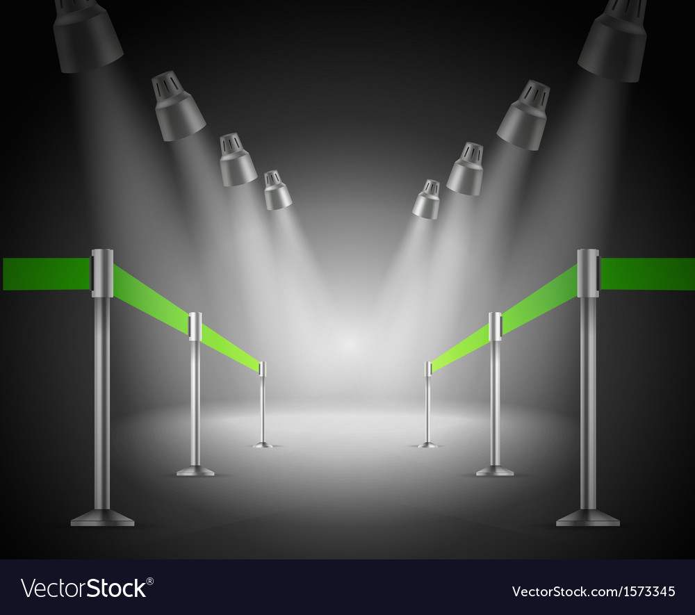 The shined green way entrance vector | Price: 1 Credit (USD $1)