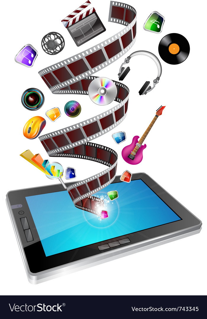 Tablet multimedia vector | Price: 5 Credit (USD $5)