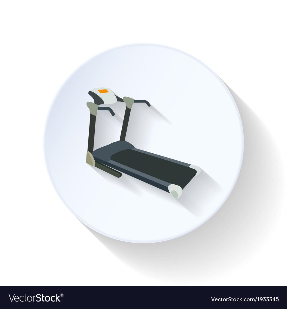 Treadmill flat icon vector   Price: 1 Credit (USD $1)