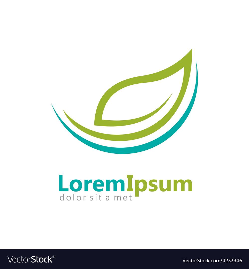 Eco natural leaf logo vector | Price: 1 Credit (USD $1)