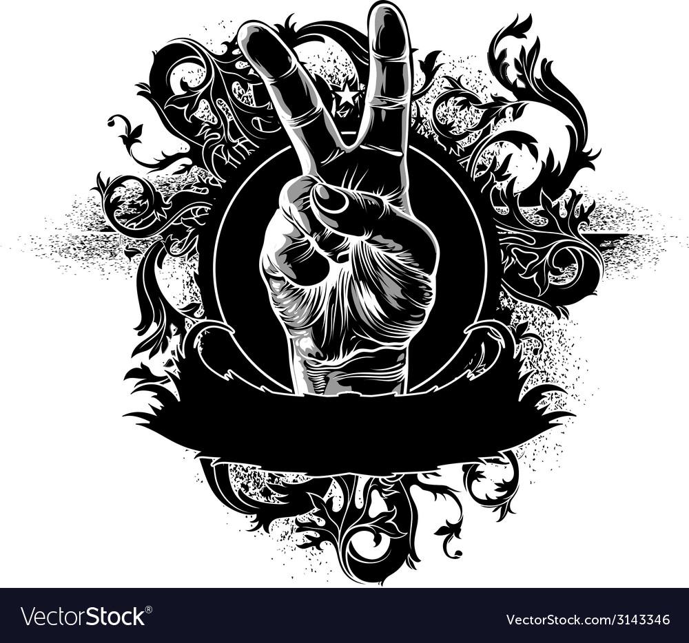 Grunge fist design vector | Price: 1 Credit (USD $1)