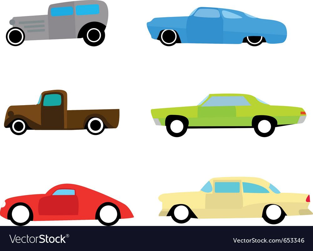 Hot rod color cars vector | Price: 1 Credit (USD $1)