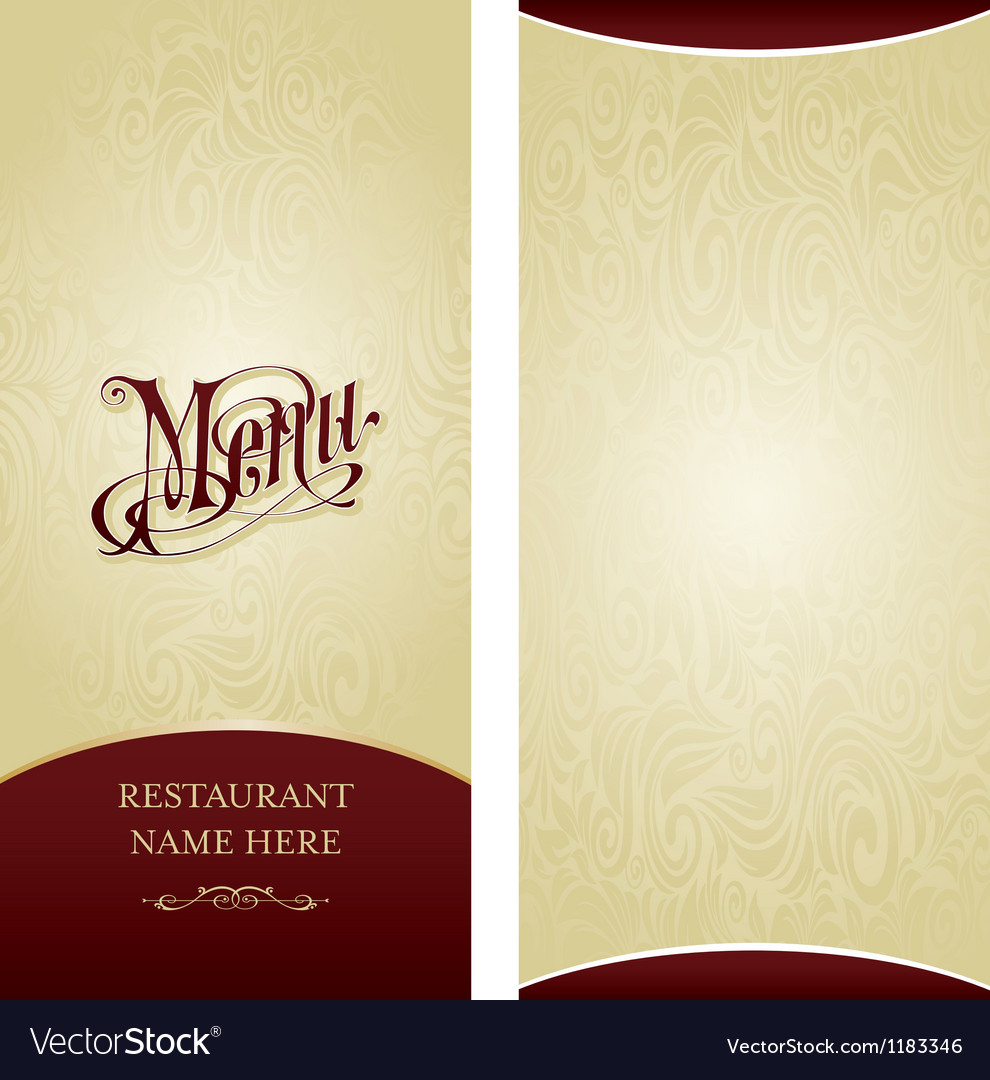 Menu design template vector | Price: 1 Credit (USD $1)