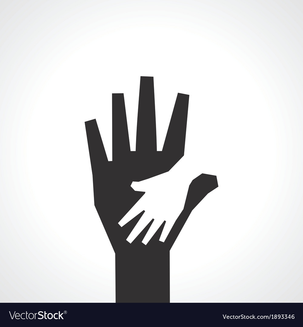 Parent and child hands family background vector | Price: 1 Credit (USD $1)