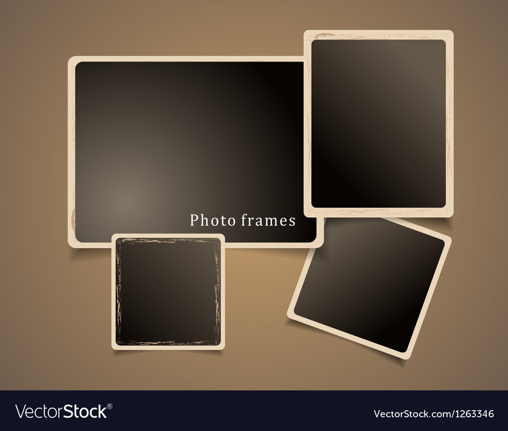 Photo frames design vector | Price: 1 Credit (USD $1)