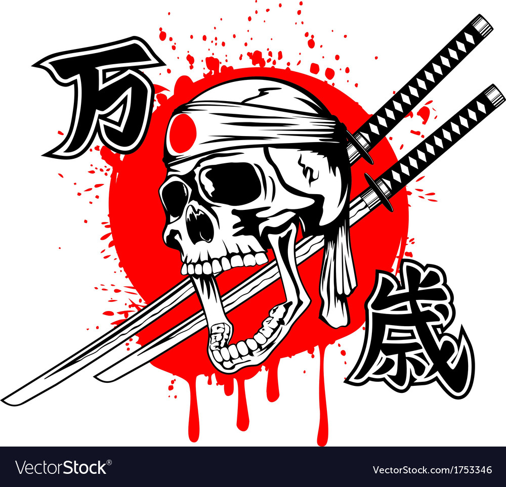 Skull banzai swords vector | Price: 1 Credit (USD $1)