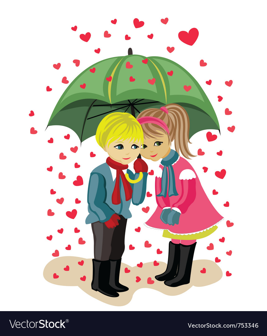 Valentines day girl and boy vector | Price: 1 Credit (USD $1)