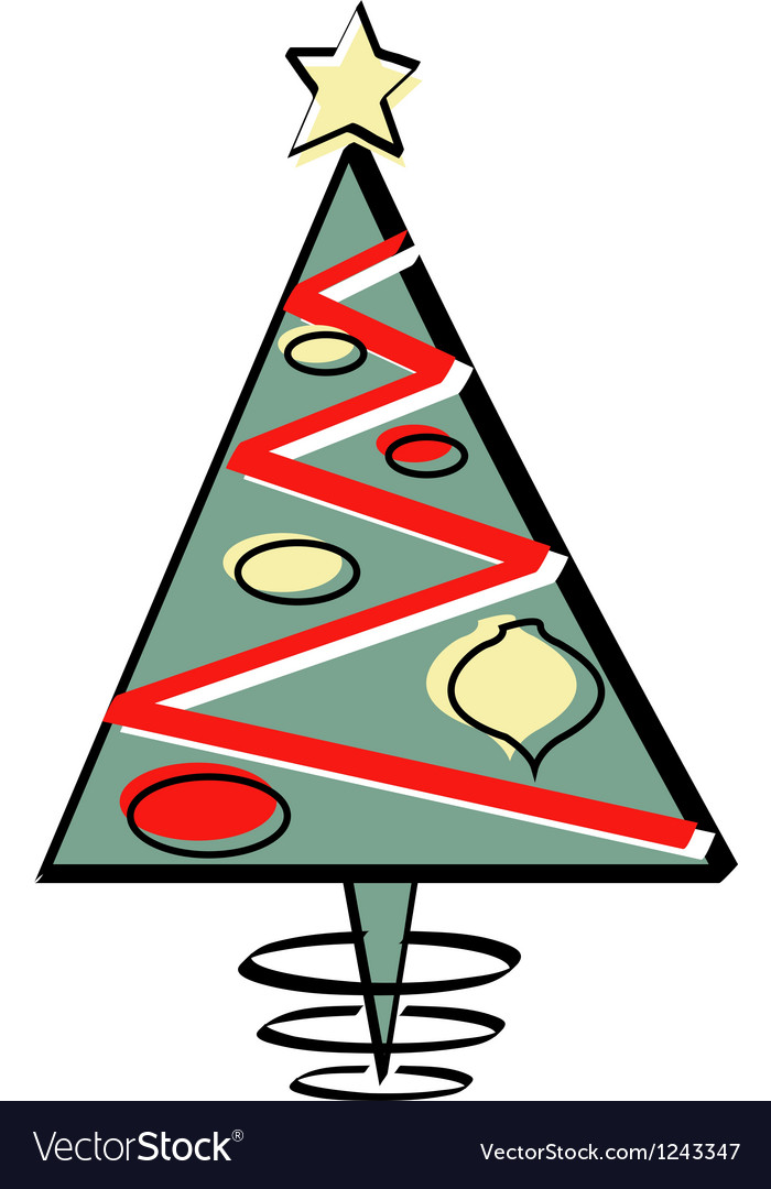 Abstract xmas tree vector | Price: 1 Credit (USD $1)