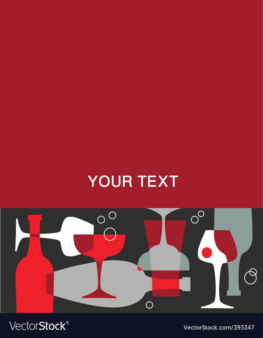 Alcohol menu vector | Price: 1 Credit (USD $1)