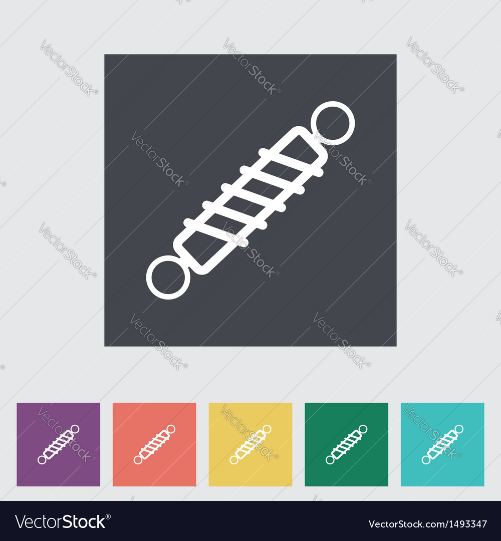 Automobile shock absorber flat single icon vector | Price: 1 Credit (USD $1)