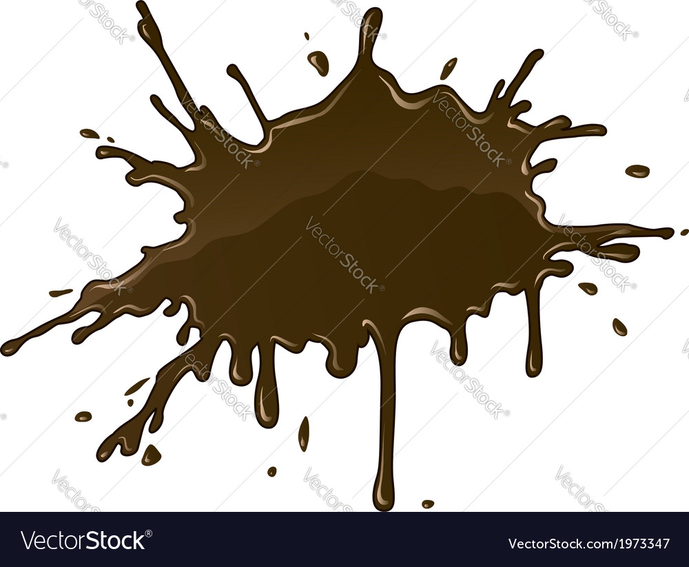 Chocolate splash blot with vector | Price: 1 Credit (USD $1)