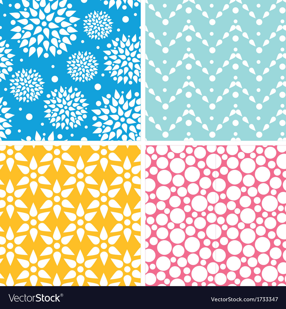 Four vibrant abstract geometric patterns and vector | Price: 1 Credit (USD $1)