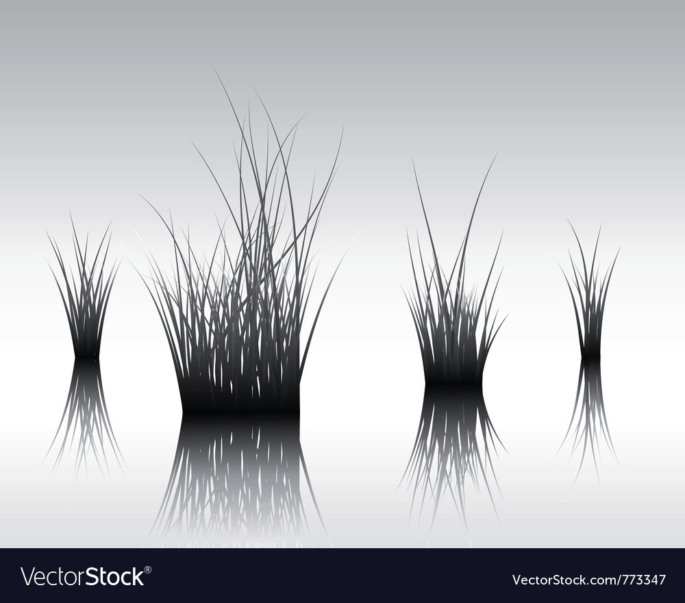 Grass silhouettes background vector | Price: 1 Credit (USD $1)
