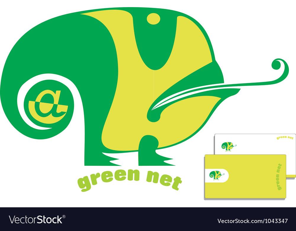 Green chameleon logo vector | Price: 1 Credit (USD $1)
