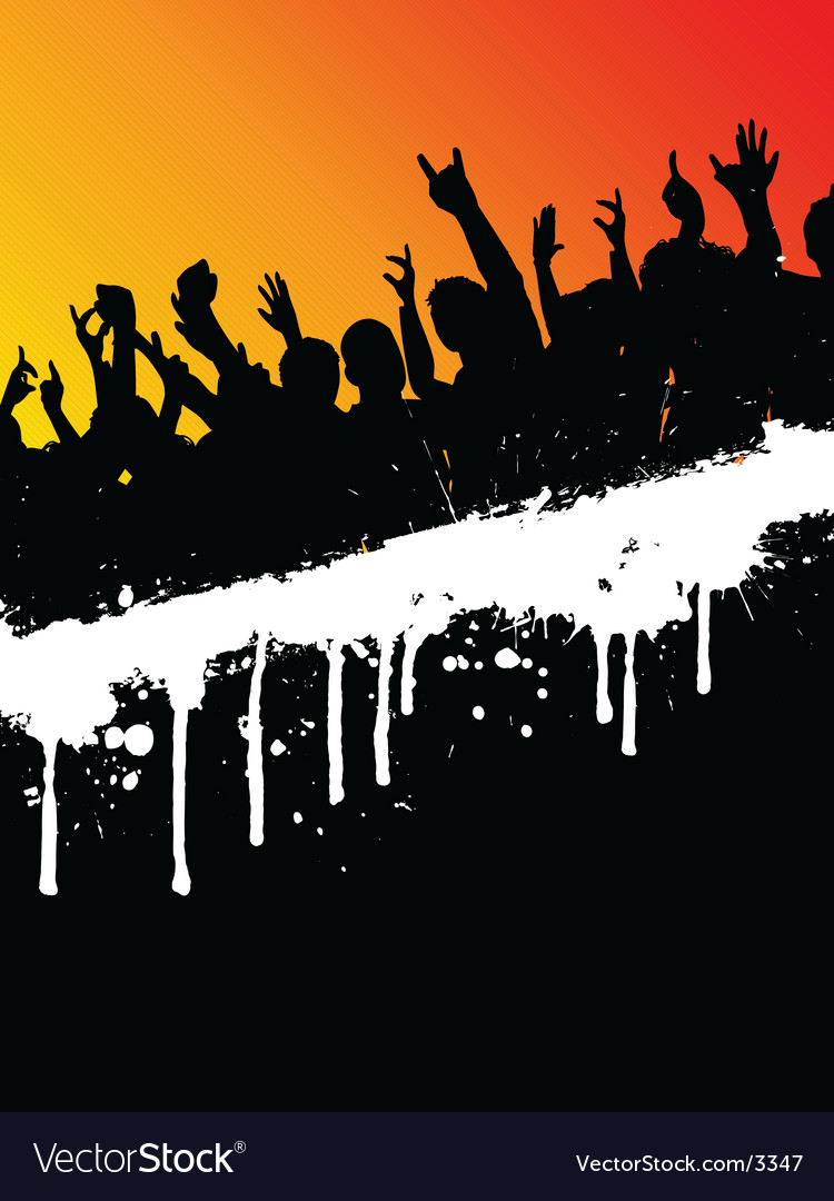 Grunge party crowd vector | Price: 1 Credit (USD $1)