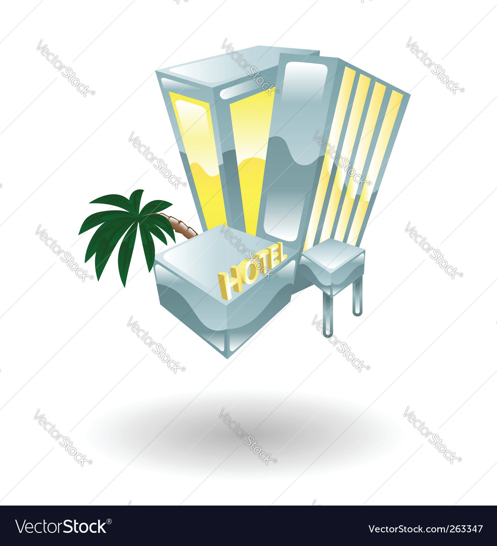 Hotel illustration vector | Price: 1 Credit (USD $1)