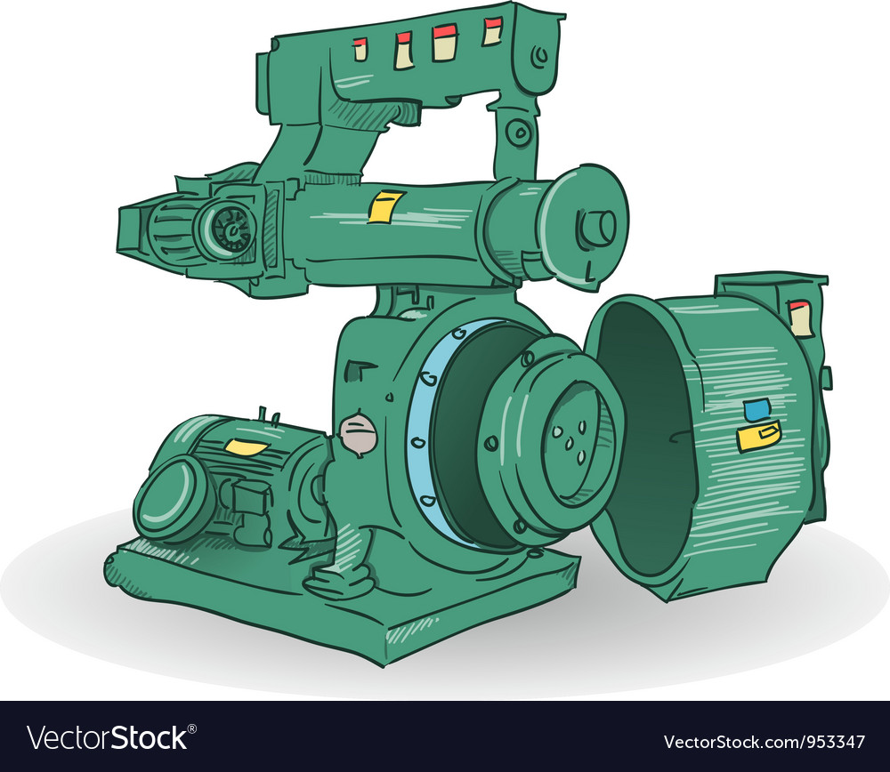 Industrial machine vector | Price: 1 Credit (USD $1)