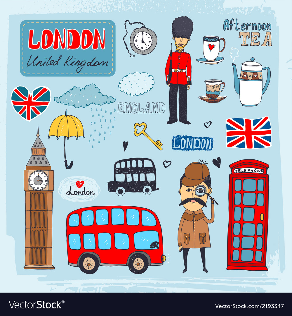 London landmarks vector | Price: 1 Credit (USD $1)