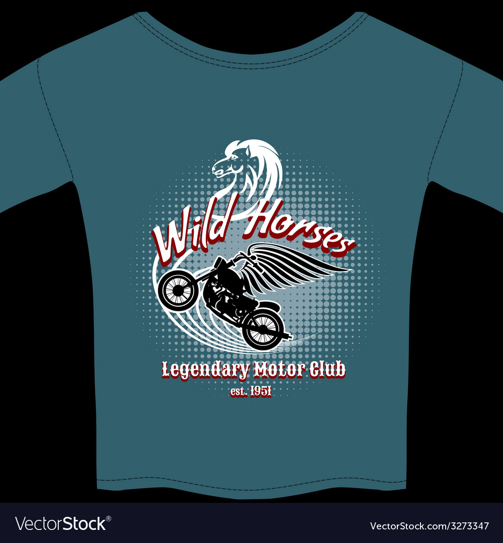 Motor club t-shirt membership design vector | Price: 1 Credit (USD $1)