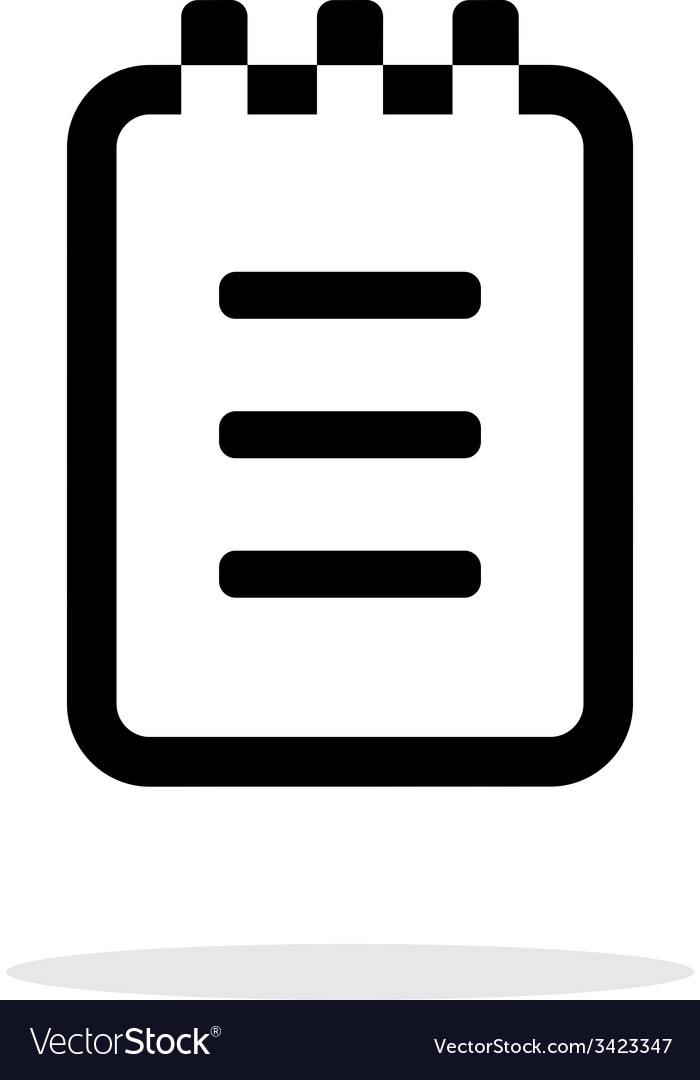 Notepad simple icon on white background vector   Price: 1 Credit (USD $1)