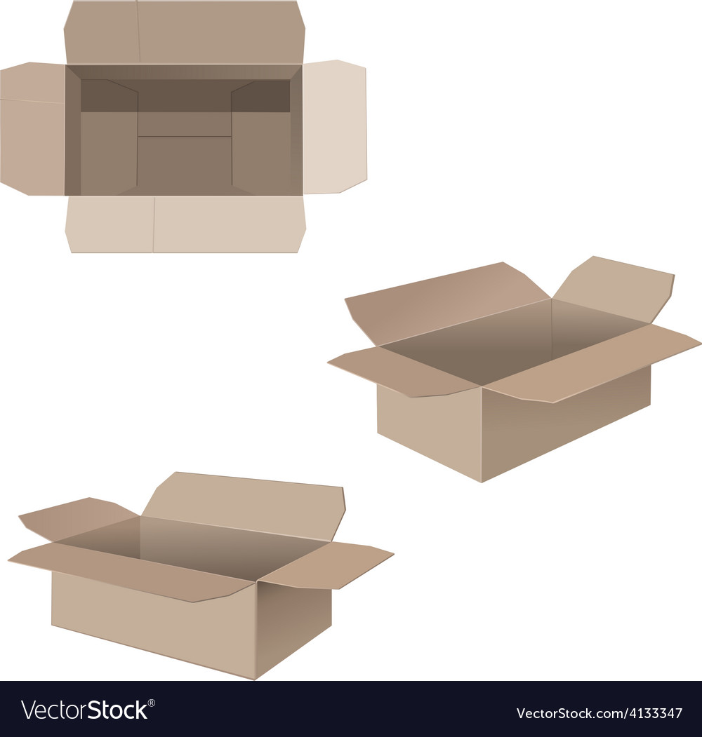Open cardboard boxes vector | Price: 1 Credit (USD $1)